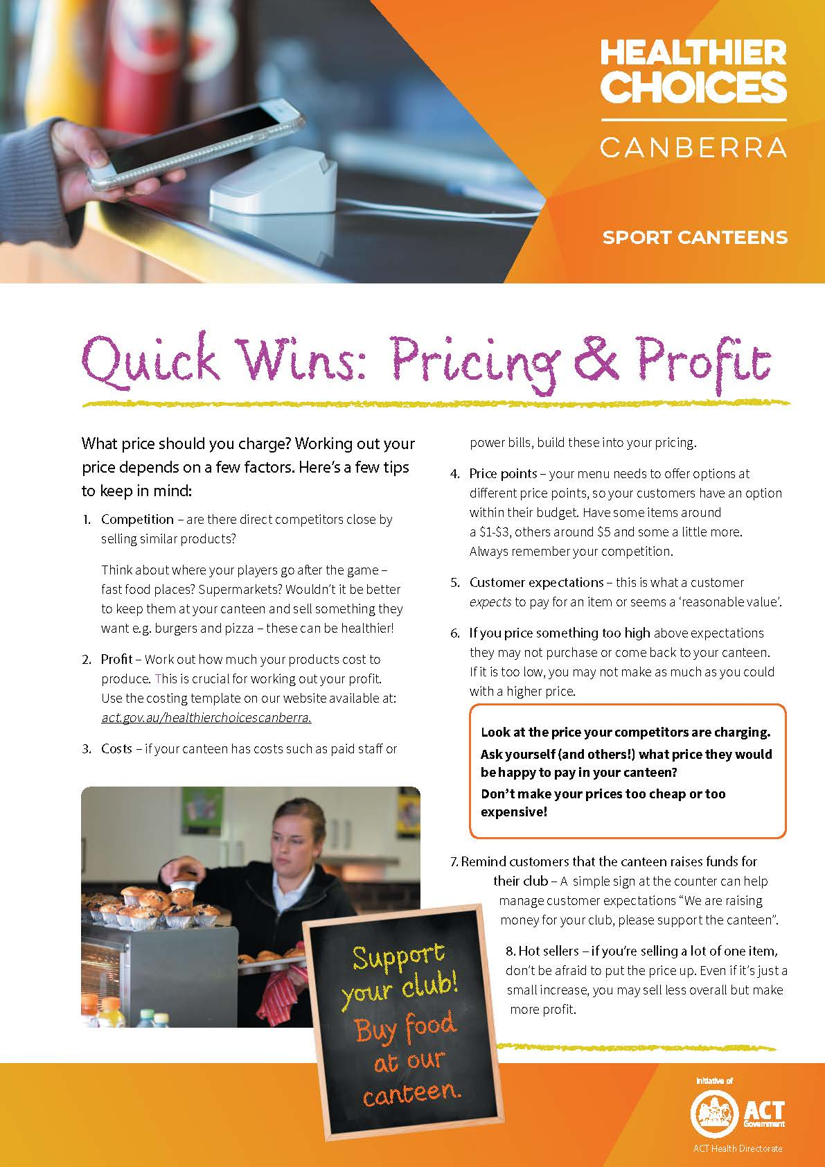 Quick Wins Pricing and Profit doc