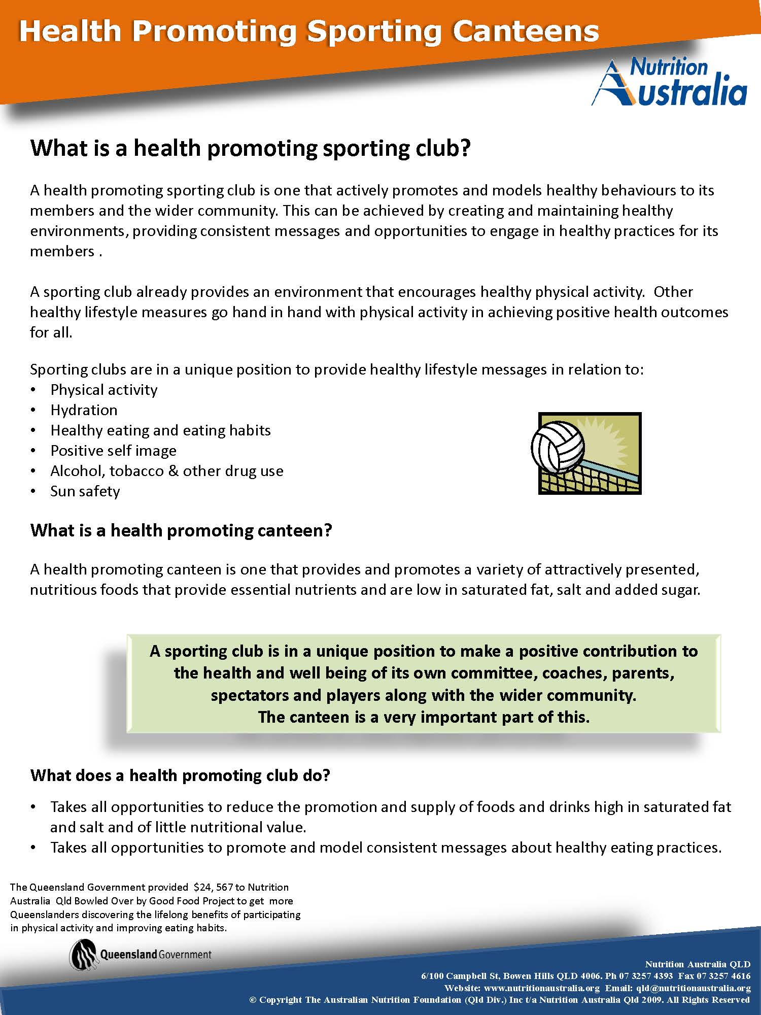 What is a Health Promoting Sporting Club doc